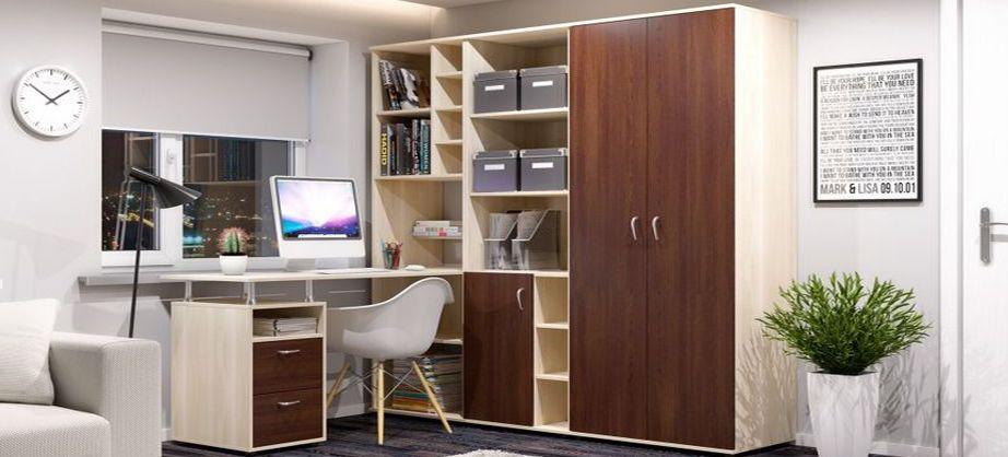 Компьютерные столы со шкафом - главная идея.